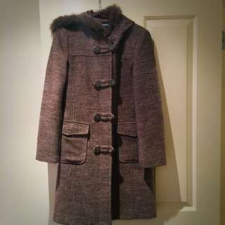Pre loved Overcoat With Hood