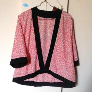Flower Peach Kimono (Outer)