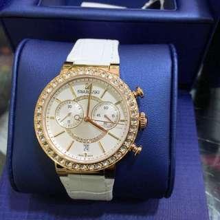 Swaraovski玫瑰金系列手錶!100%全新 原價$5050的