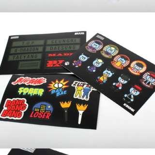 BIGBANG MADE TOUR 官方貼紙組,現貨供應中