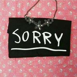 Kaos Cewek Sorry