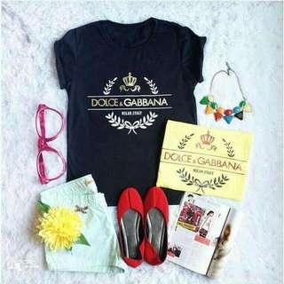 Kaos Cewek Dolce Gabbana