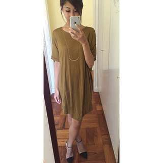 Zara Khaki Dress