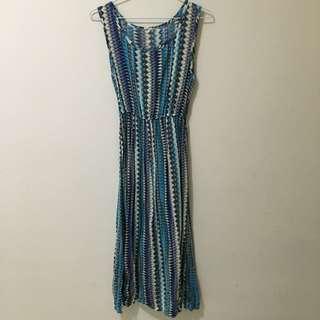 ✋🏻二手✋🏻波紋藍色洋裝