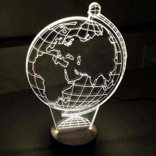 🌍地球造型 LED壓克力夜燈