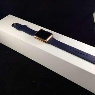Apple Watch 42mm 午夜藍 買就送充電座 跟 二合ㄧ保護殼