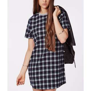 Missguided Checked Shift Dress