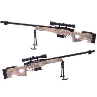 1:3.5 金屬製 可分解 AWM狙擊槍模型 (迷彩、黑色) 附子彈 不可發射 另售M4A1步槍