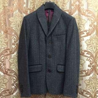 降價Ted Baker羊毛人字紋單叉西裝外套uk:2號