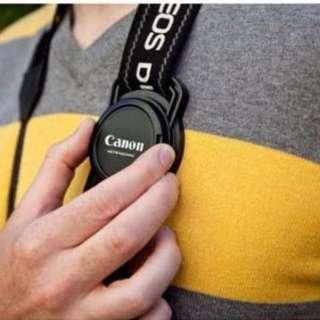 Camera Buckle Lens Cap Holder for Lens Cap Sizes. Never lost lens cap!