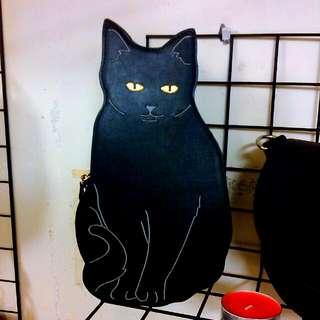 美國潮牌。 貓咪包包(全新)有斜背帶 只有一個