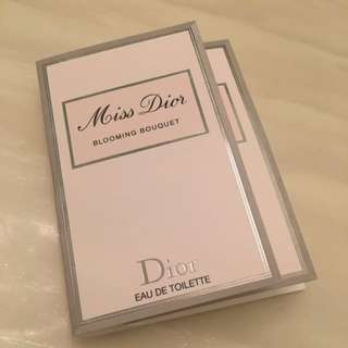 Brand New Miss Dior Blooming Bouquet Or Absolutely Blooming Perfume Samples For Sale!