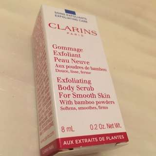 Brand New Clarins Exfoliating Body Scrub For Smooth Skin For Sale!