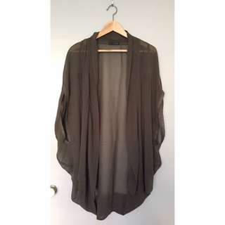 Sheer Khaki Cape