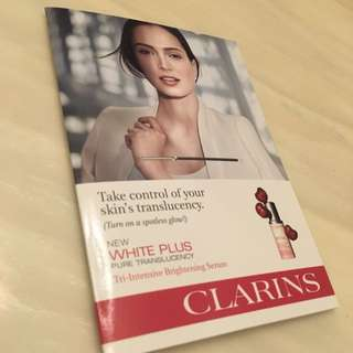 Brand New Clarins White Plus Pure Translucency Tri Intensive Brightening Serum For Sale!