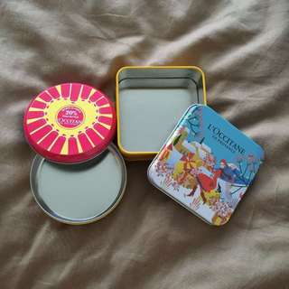 Mini Loccitane Tin Containers