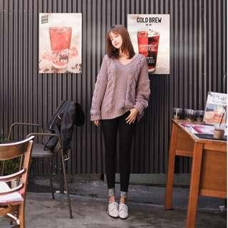 韓國 cherrykoko 紫芋色毛衣