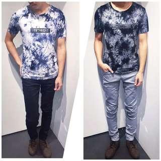 「免運費」《穿搭空間》超個性渲染印花短袖t shirt(雙色)