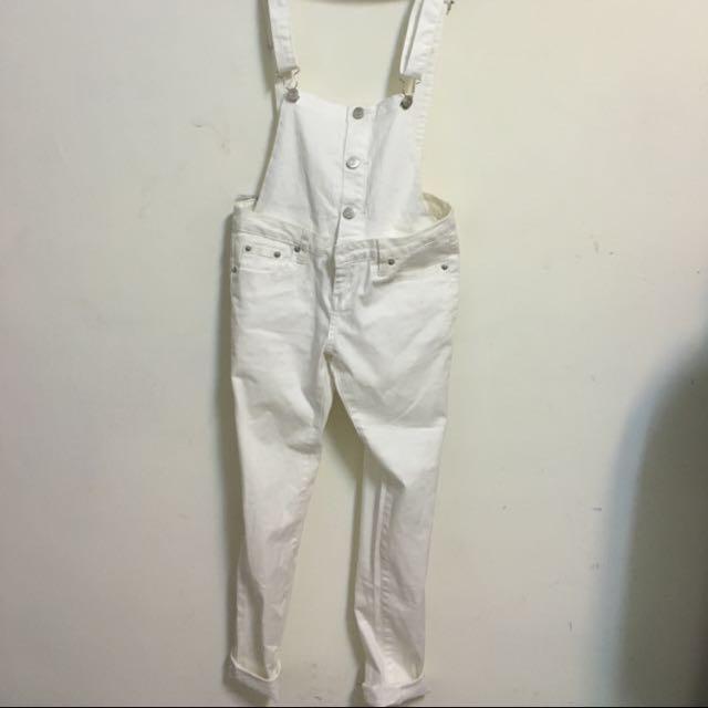 白色吊帶長褲