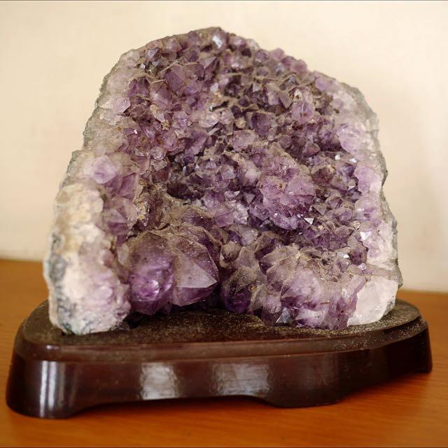 招財小紫晶洞