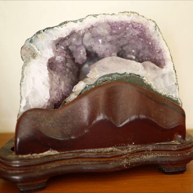 聚財小紫晶洞