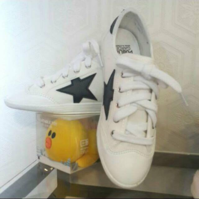韓版星星布鞋(白)(淺綠)(牛仔藍)三色