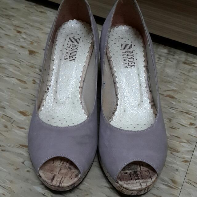 魚口楔形鞋
