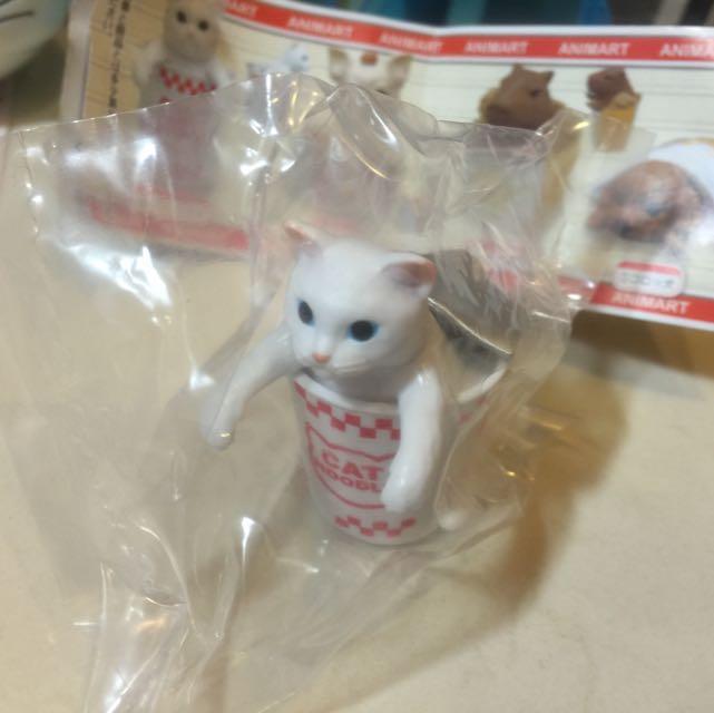 貓咪杯麵扭蛋 全新
