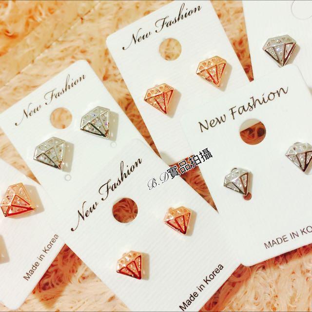 年終特惠 正韓奢華鑽石鋯石耳環