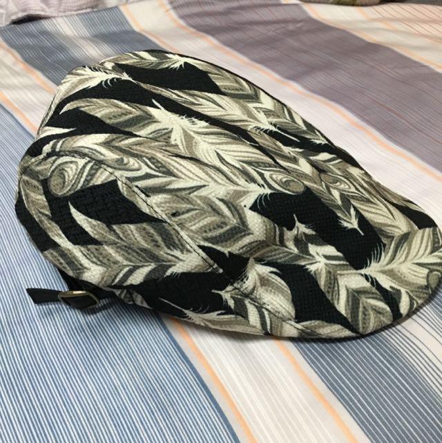 日本購入 花色鴨舌扁帽(實戴照)