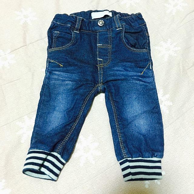 寶寶 針織牛仔褲