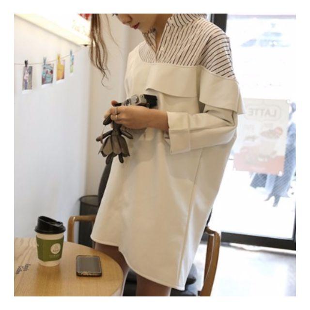 🎉(正韓) 條紋襯衫連身裙