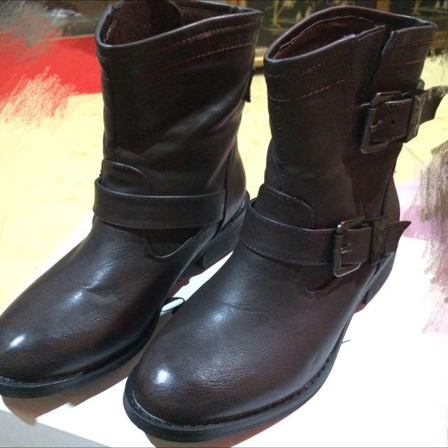 皮革靴子 韓製