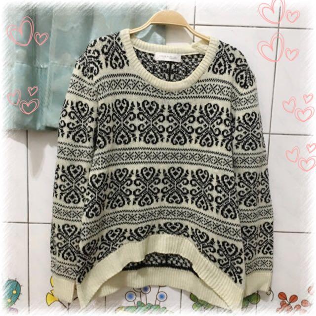 柔軟 針織毛衣 圖騰毛衣