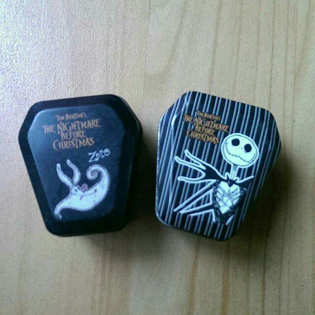 絕版 骷髏 傑克 小鐵盒 迪士尼 萬聖節