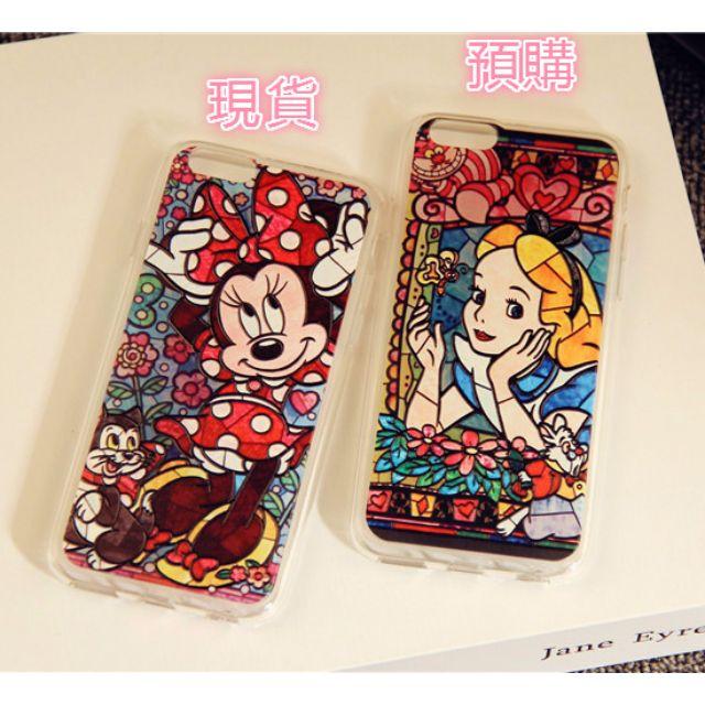 {現貨+預購}迪士尼彩色拼接殼 米妮&愛麗絲   iphone6/6s/6plus/6splus