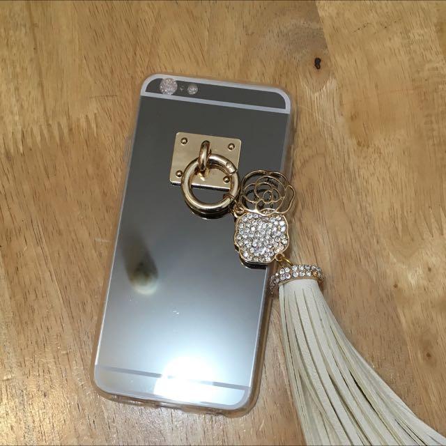 正韓 山茶花鏡面手機軟殼for iphone6/6s