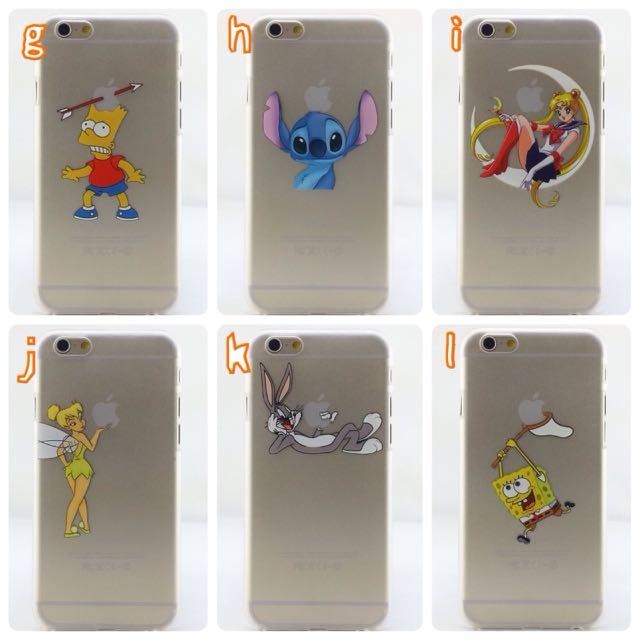 Apple iPhone 6/6s 美少女戰士、辛普森家族、小精靈、史帝奇、海綿寶寶透明手機殼