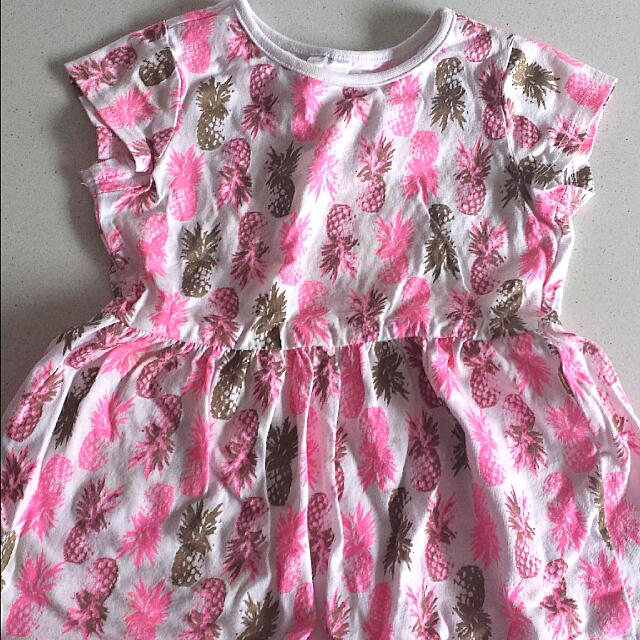 81cc5ab6bf80e Baby Girl Pineapple Print Summer Dress