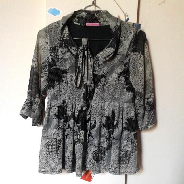 Black Grey Batik