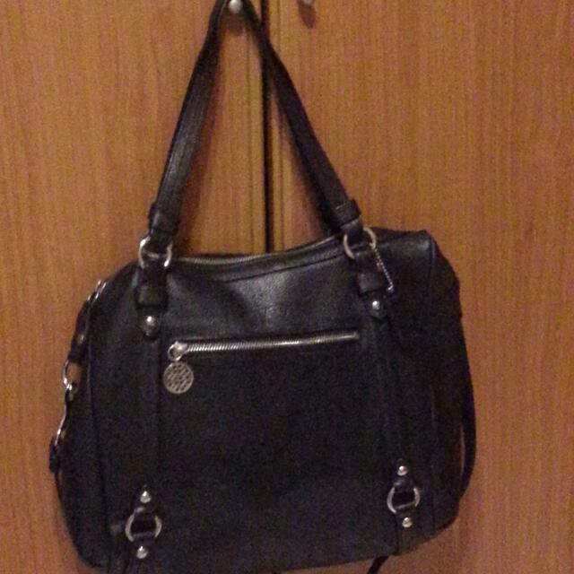 【降價】COACH 黑色真皮~手提包、肩背包、斜背包三用包