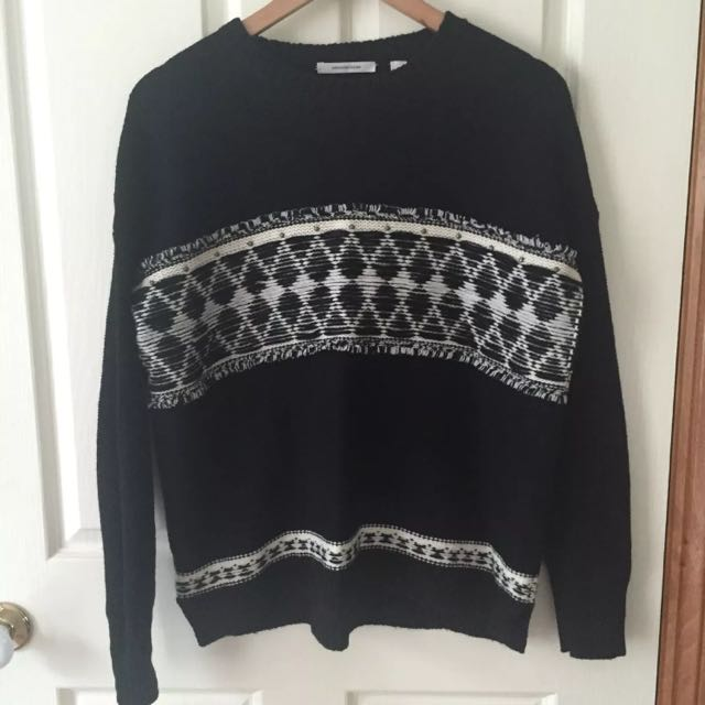 Country Road Black Wool Jumper Size: M