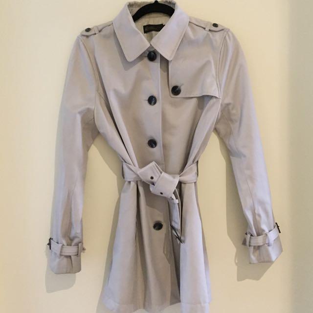 David Lawrence Light Grey Trench Coat