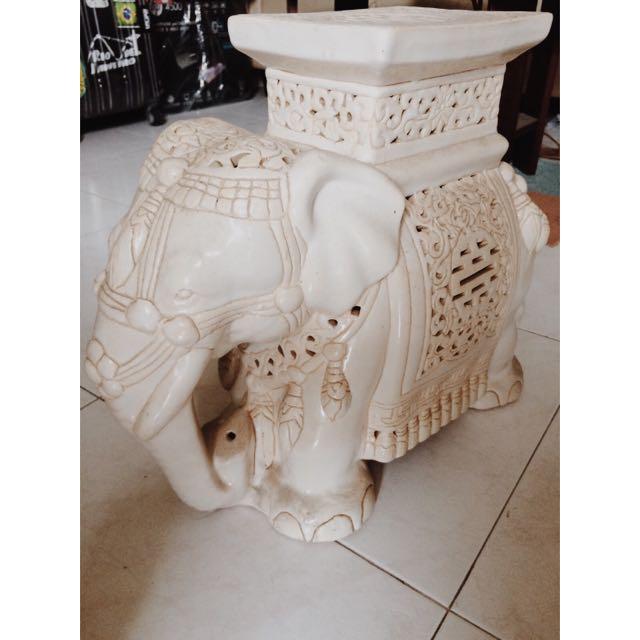 Elephant Figures From Bali