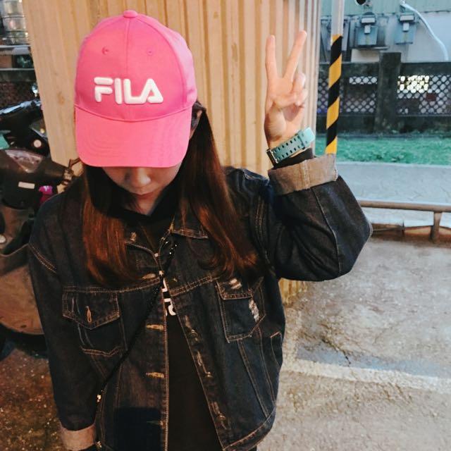 [全新]Fila 老帽 帽子 粉紅 桃紅 KID 現貨