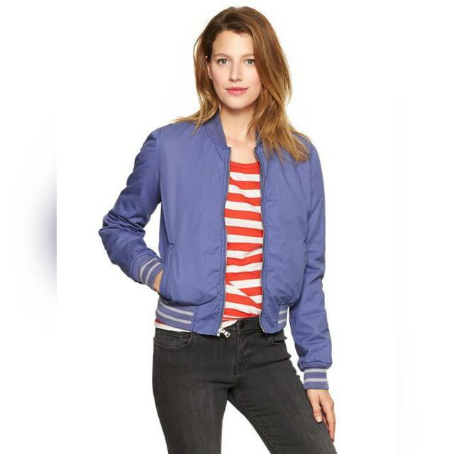 Gap Blue + White Bomber Jacket & Soft Purple Utility Jacket #original #new