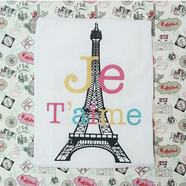 Kaos Cewek Jetaime Paris