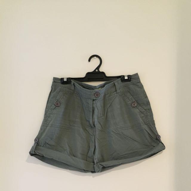 Khaki Green Shorts