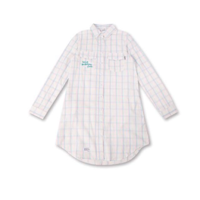 MJR Majormade 氣質清新長版格紋襯衫