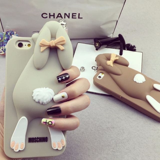 separation shoes c07be a5315 Moschino Inspired Bunny Rabbit Silicone Hand Mobile Cell Phone HP Case  Cover Casing Samsung Galaxy S3 S4 S5 S6 Note 2 3 4 Apple IPhone 4 4S 5 5S 6  6S ...